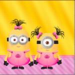 Mini Confeti Minions para Meninas