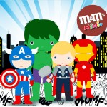 Mini M&M Kit Festa Vingadores Cute