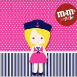 Mini M&M Menina Marinheira Loira
