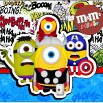Mini M&M Minions Super-Heróis