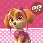 Mini M&M Patrulha Canina para Meninas