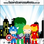 Mini Pastilha Docile Kit Festa Vingadores Cute