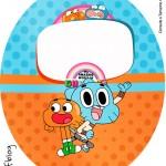 Molde Tubete Oval o Incrível Mundo de Gumball