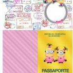 Passaporte Minions para Meninas