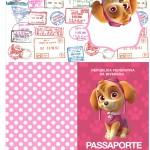 Passaporte Patrulha Canina para Meninas