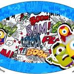 Placa Elipse Minions Super-Heróis