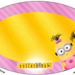 Placa Elipse Minions para Meninas