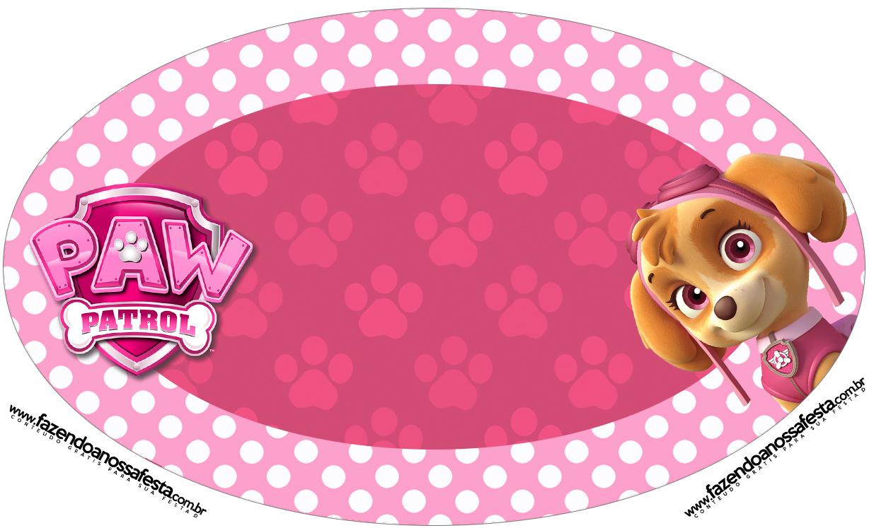 Placa Elipse Patrulha Canina para Meninas