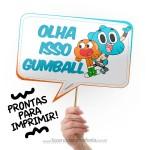 Plaquinhas Divertidas O Incrível Mundo de Gumball
