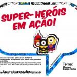 Plaquinhas Divertidas Minions Super-Heróis 20