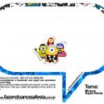 Plaquinhas Divertidas Minions Super-Heróis 64