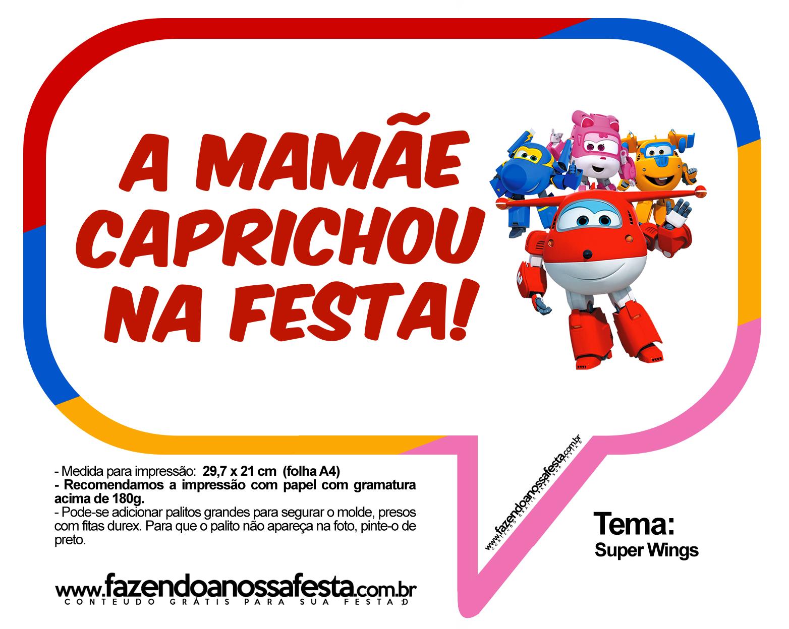 Plaquinhas Divertidas Super Wings 11