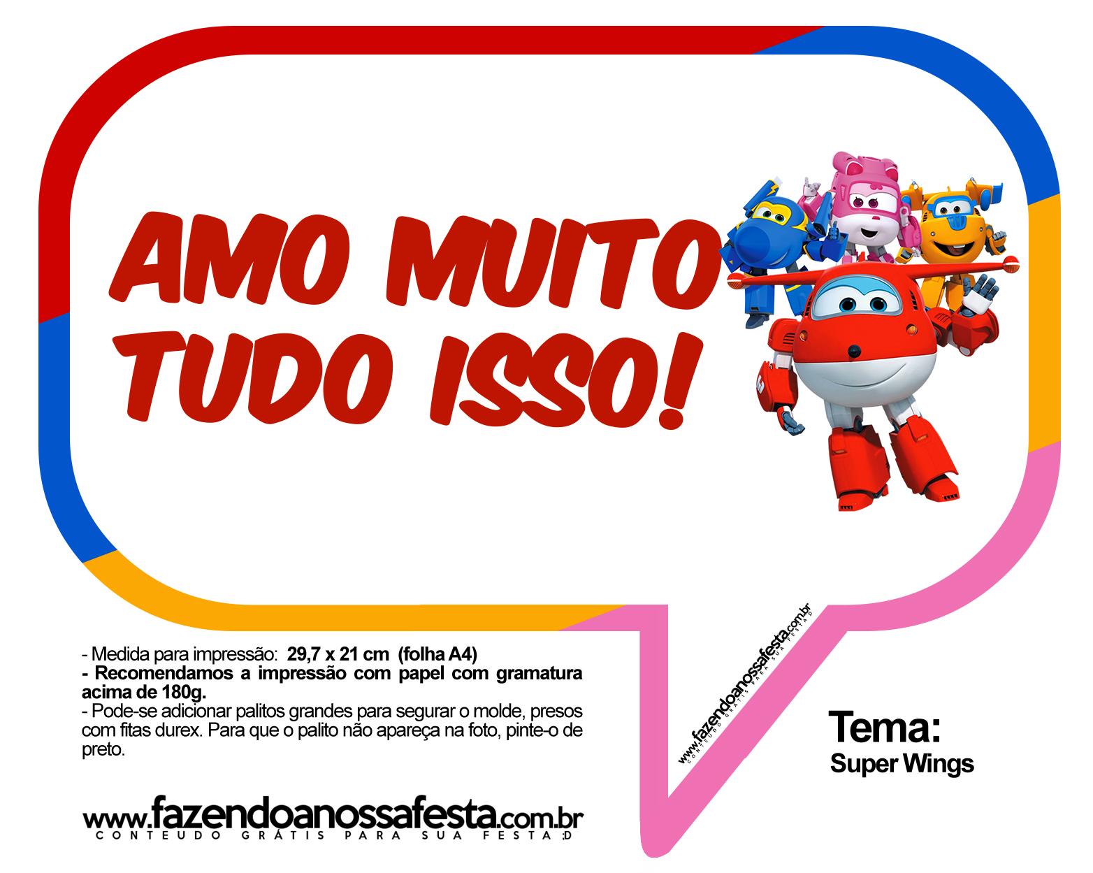 Plaquinhas Divertidas Super Wings 15