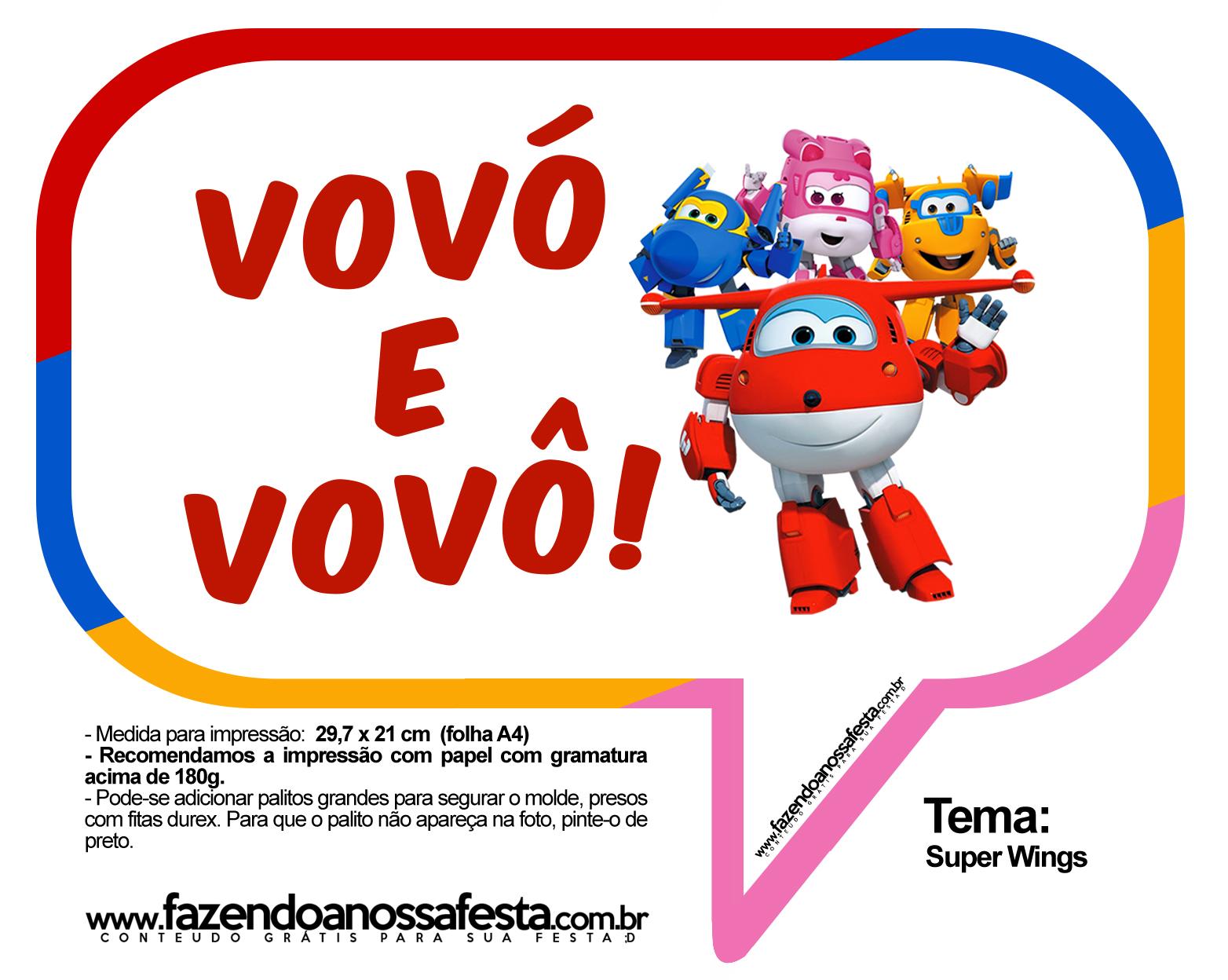 Plaquinhas Divertidas Super Wings 17
