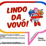 Plaquinhas Divertidas Super Wings 26