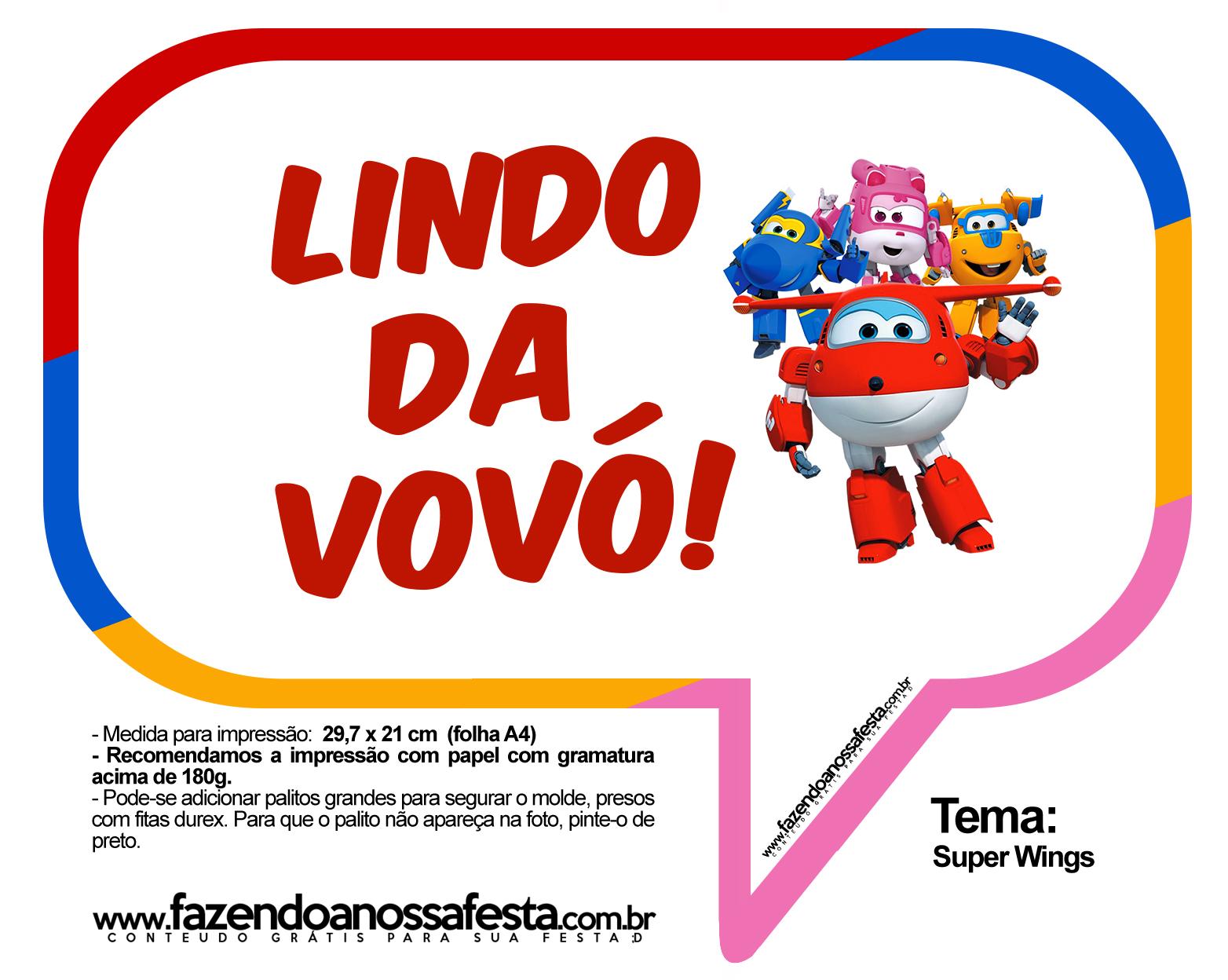 Plaquinhas Divertidas Super Wings 26