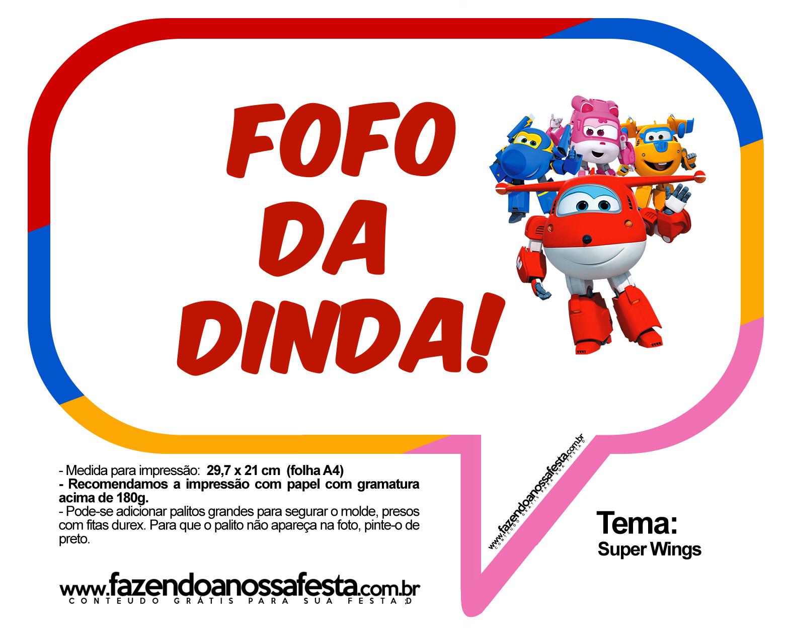 Plaquinhas Divertidas Super Wings 30