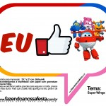 Plaquinhas Divertidas Super Wings 35