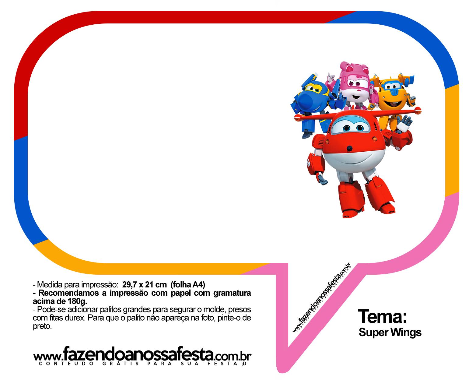 Plaquinhas Divertidas Super Wings 36