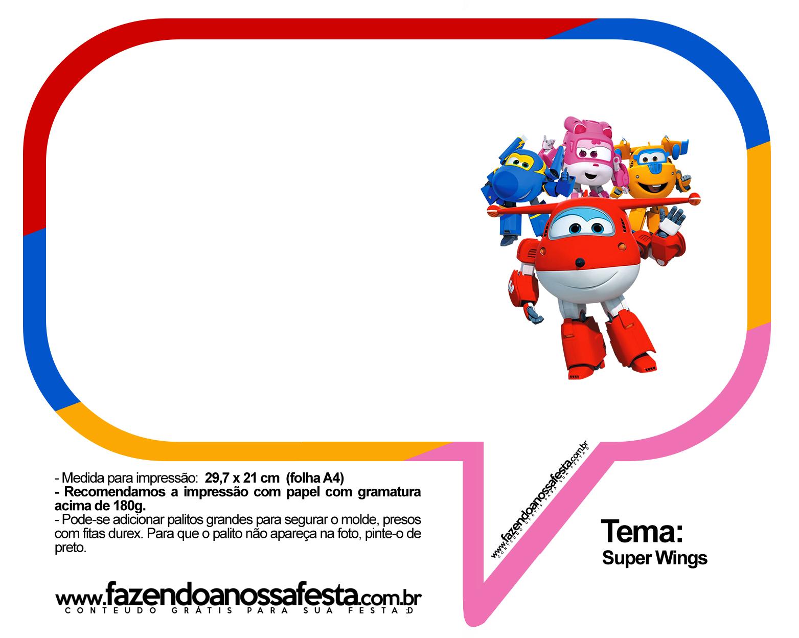 Plaquinhas Divertidas Super Wings 37