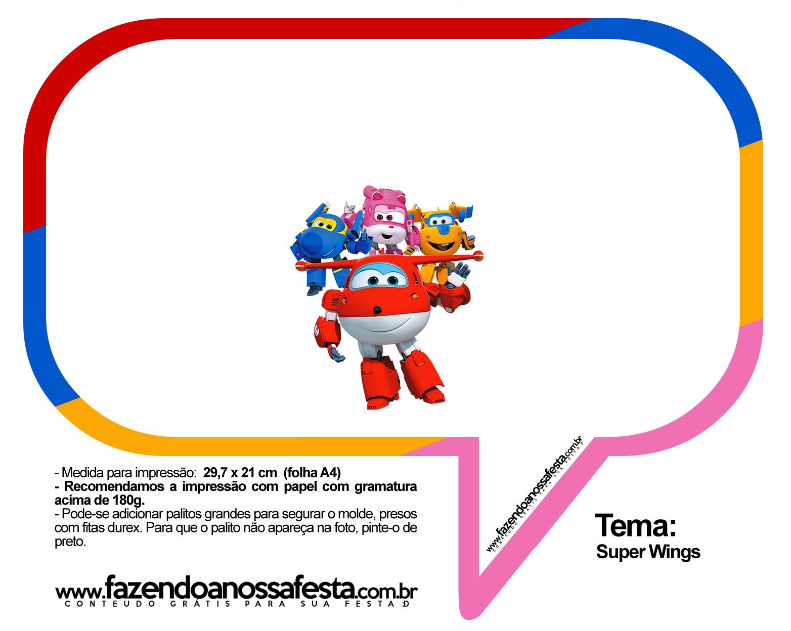 Plaquinhas Divertidas Super Wings 38
