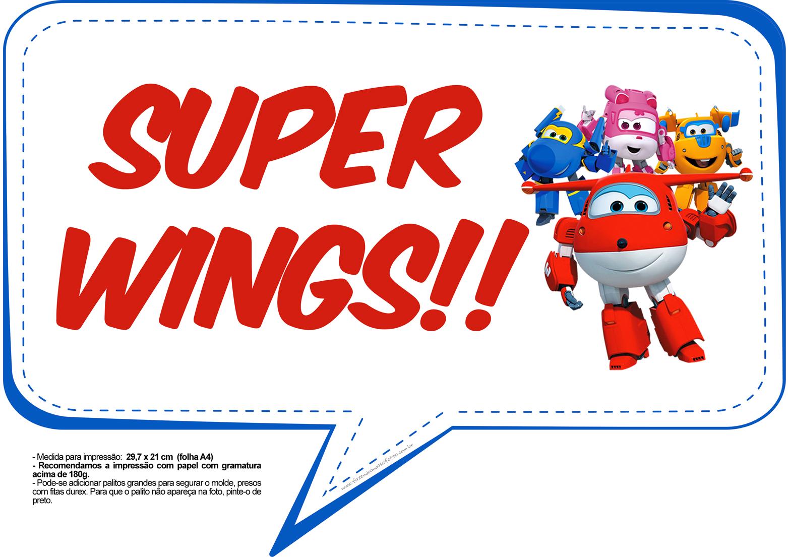 Plaquinhas Divertidas Super Wings 5