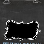 Quadro Chalkboard Dia dos Pais 3