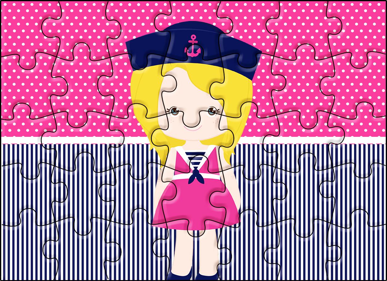 Quebra-cabeça Menina Marinheira Loira