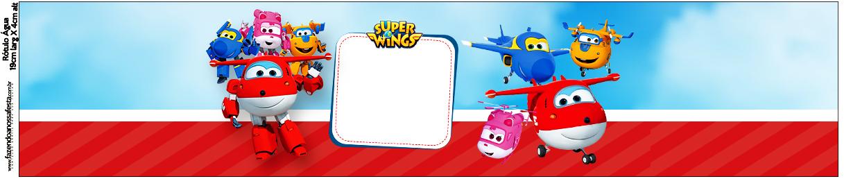 Rótulo Água Super Wings
