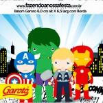 Rótulo Batom Garoto Kit Festa Vingadores Cute