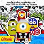 Rótulo Batom Garoto Minions Super-Heróis