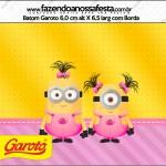 Rótulo Batom Garoto Minions para Meninas