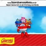 Rótulo Batom Garoto Super Wings