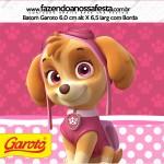 Rótulo Baton Garoto Patrulha Canina para Meninas