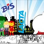 Rótulo Bis Duplo Kit Festa Vingadores Cute