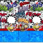 Rótulo Bis Minions Super-Heróis