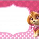 Rótulo Bolinha de Sabão Patrulha Canina para Meninas