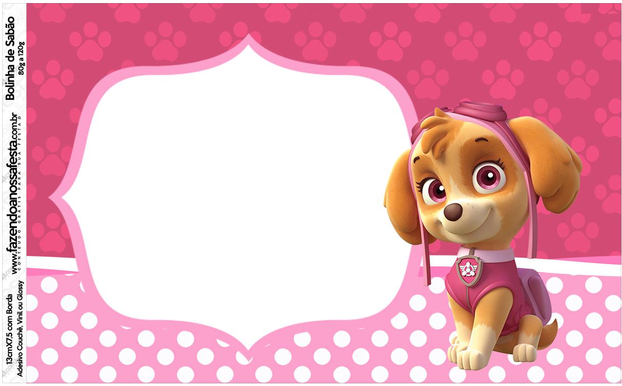 stella and dot invitation templates - r tulo bolinha de sab o patrulha canina para meninas