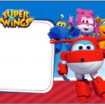 Rótulo Caixa de bombom Super Wings