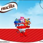 Rótulo Creminho Nucita Super Wings