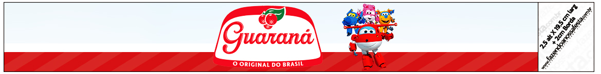 Rótulo Guaraná Caçulinha Super Wings
