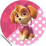 Rótulo Latinhas e Toppers Patrulha Canina para Meninas