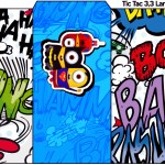 Rótulo Tic Tac Minions Super-Heróis
