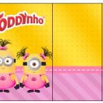 Rótulo Toddynho Minions para Meninas