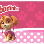 Rótulo Toddynho Patrulha Canina para Meninas