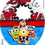 Rótulo Tubete Oval Minions Super-Heróis
