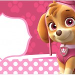 Rótulo para Caixa Bombom Patrulha Canina para Meninas