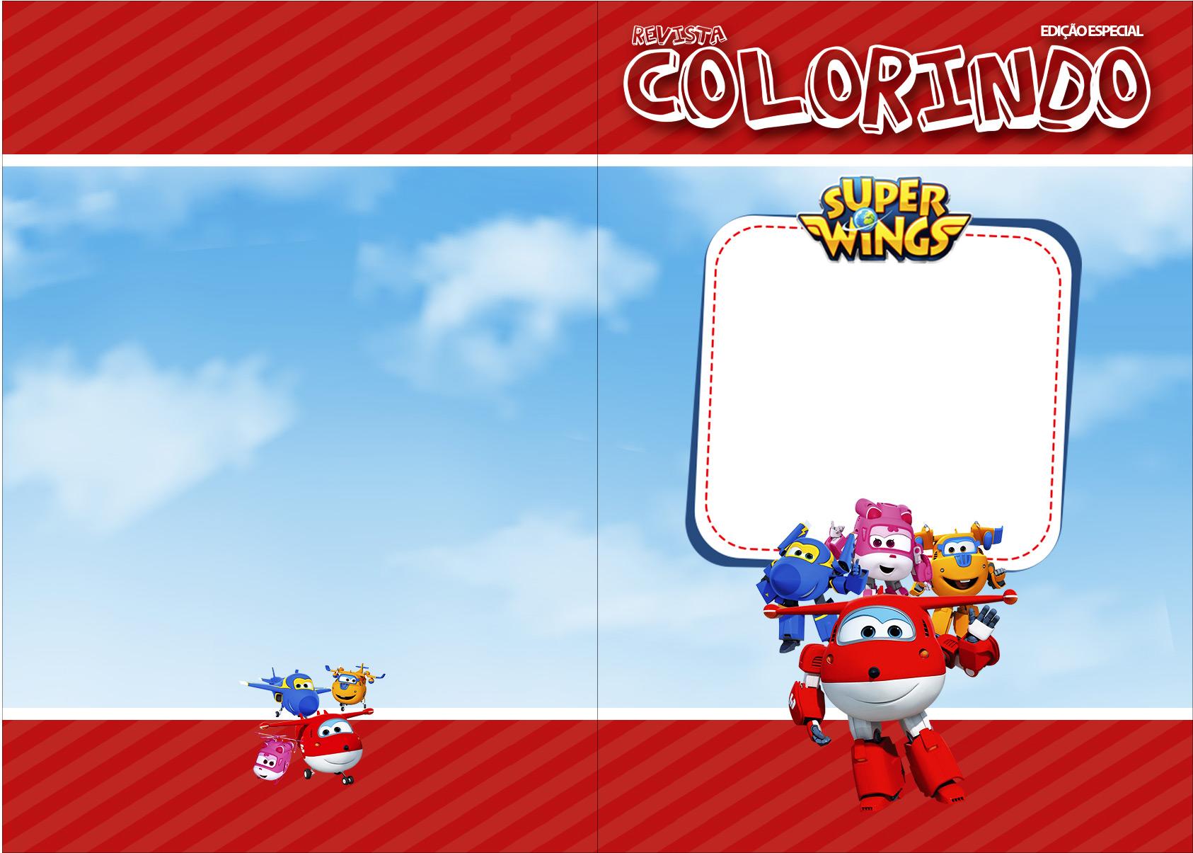 Revista Colorindo Super Wings Fazendo A Nossa Festa