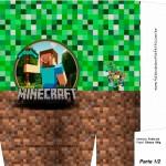 Sacolinha Festa Minecraft A4 - Parte 1
