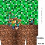 Sacolinha Festa Minecraft A4 - Parte 2